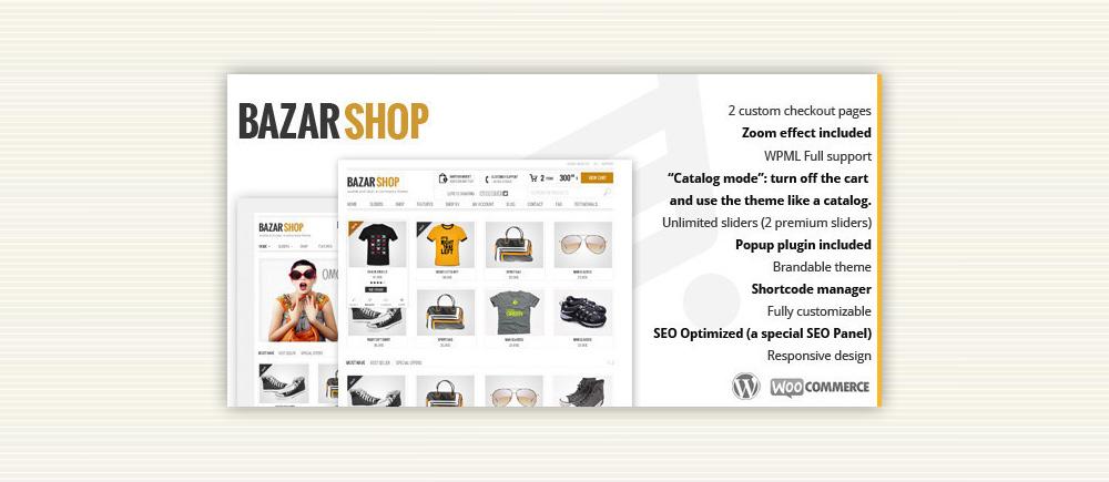 Tema creare siti ecommerce Bazar Shop