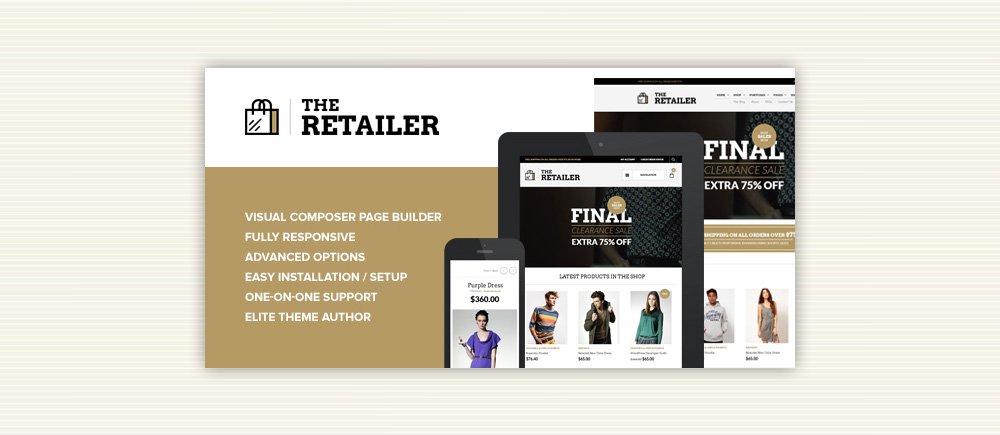 Creare Ecommerce: Tema The Retailer