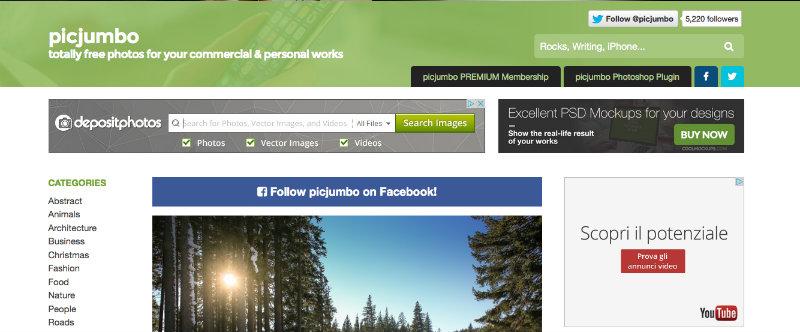 PIcjumbo per trovare immagini sul web