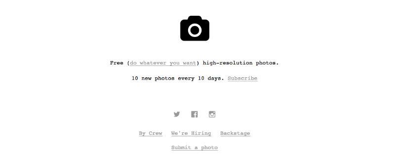 Unspash per trovare foto sul web