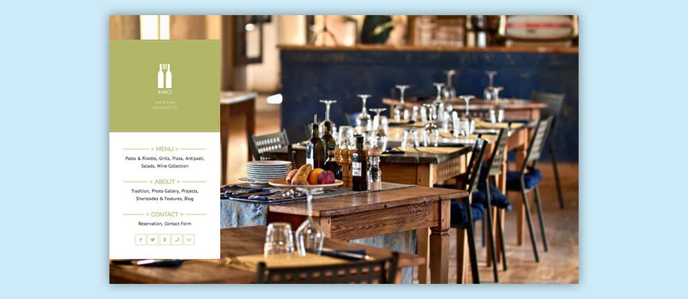 Migliori temi WordPress per ristoranti - Amici