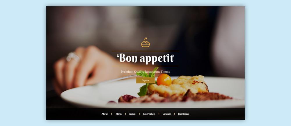 Migliori temi wordpress per ristoranti - Bon Appetit