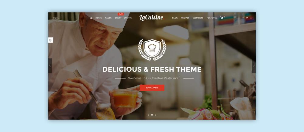 Migliori temi WordPress per ristoranti - La Cuisine