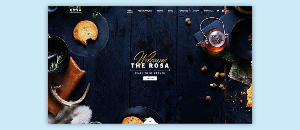 Migliori temi WordPress per ristoranti - Rosa