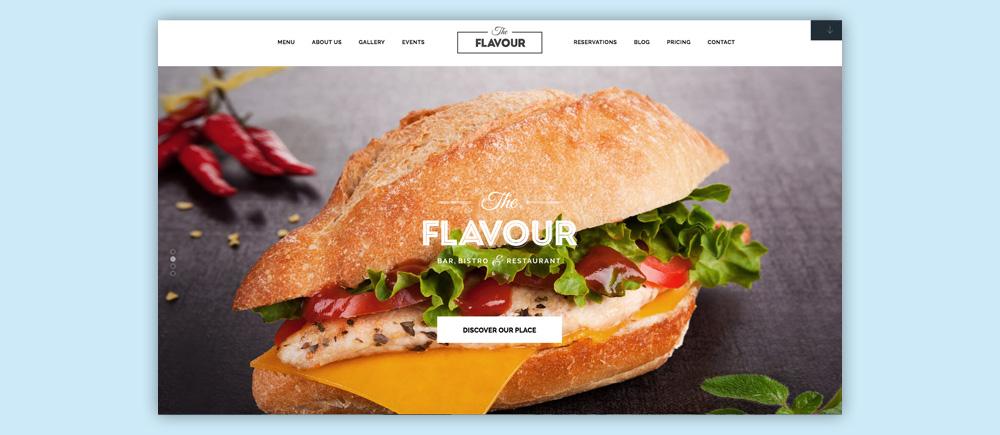 Migliori temi WordPress per ristoranti - The Flavour