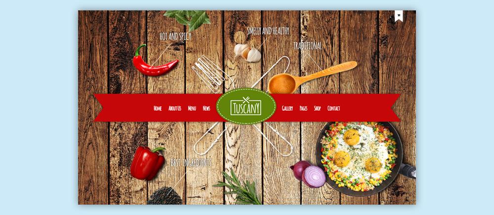 Migliori temi WordPress per ristoranti - Tuscany