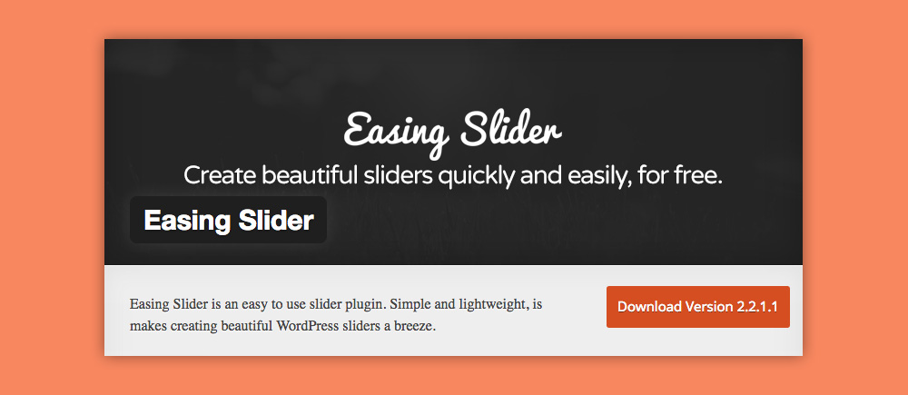 Slider WordPress: Easing Slider