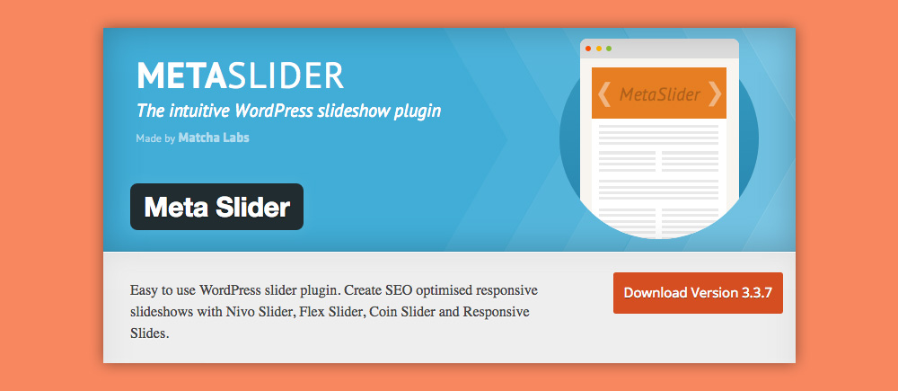 Slider WordPress: Meta Slider