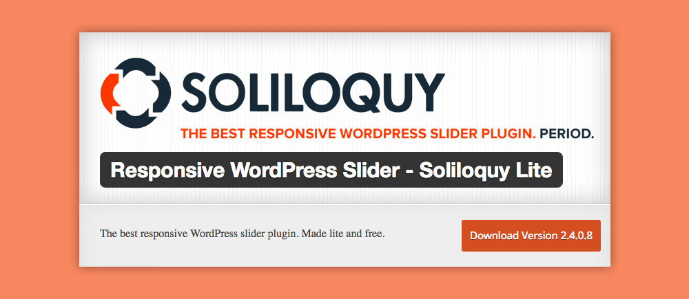 Slider WordPress: Soliloquy