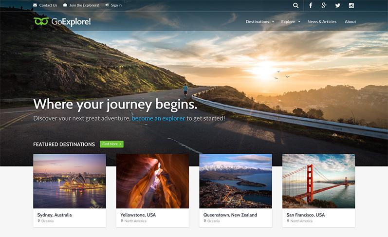 Goexplore tema wordpress viaggi