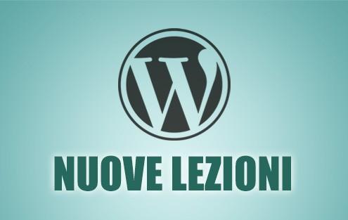 nuove lezioni di wordpress