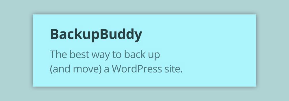 backup plugin wordpress backupbuddy