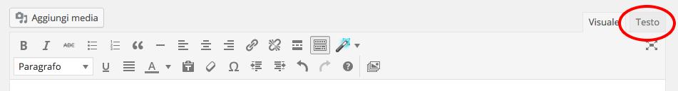 comandi editor wordPress