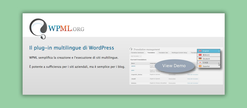 plugin wpml WordPress multilingua