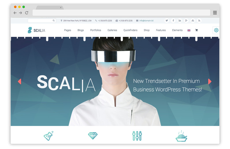 scalia business theme