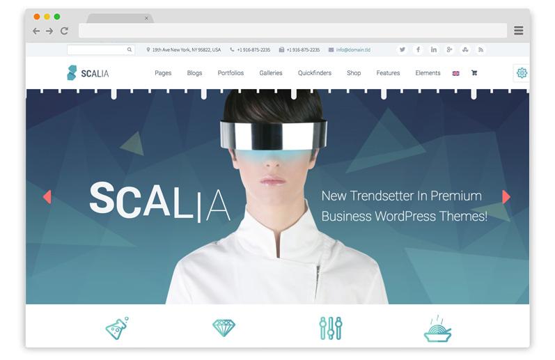 scalia business theme