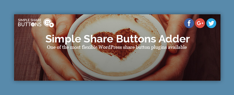 Social plugin wordpress: Simple share button adder