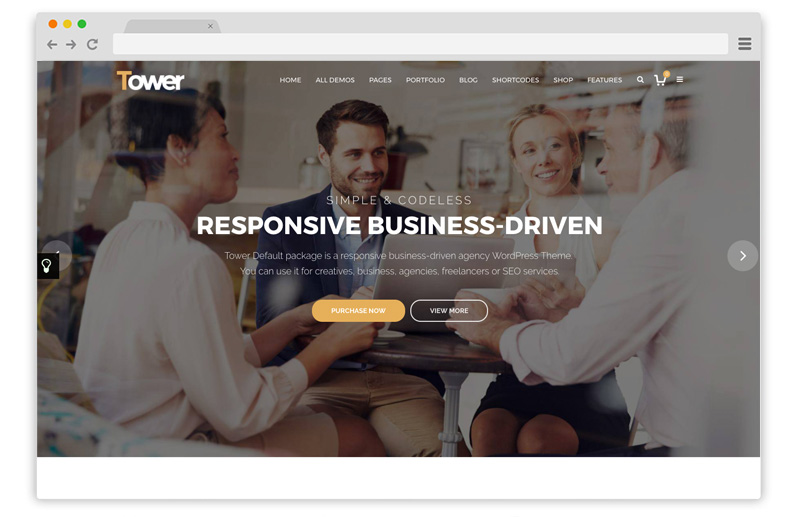 tower temi business wordpress