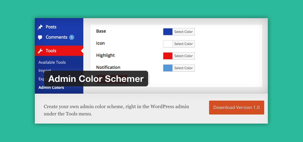 Come cambiare aspetto pannello admin WordPress: Admin color schemer