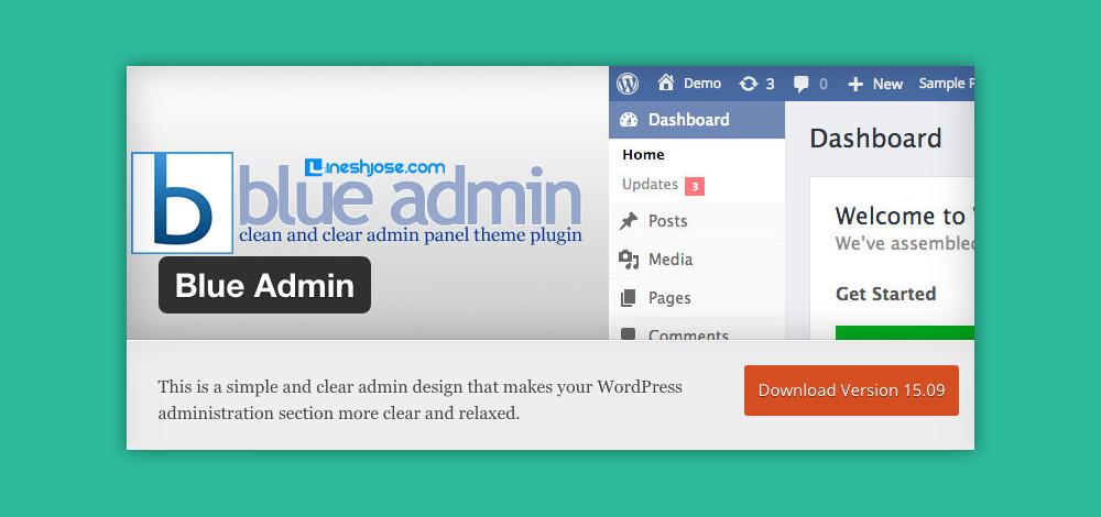 Come cambiare aspetto pannello admin WordPress: Blue Admin plugin