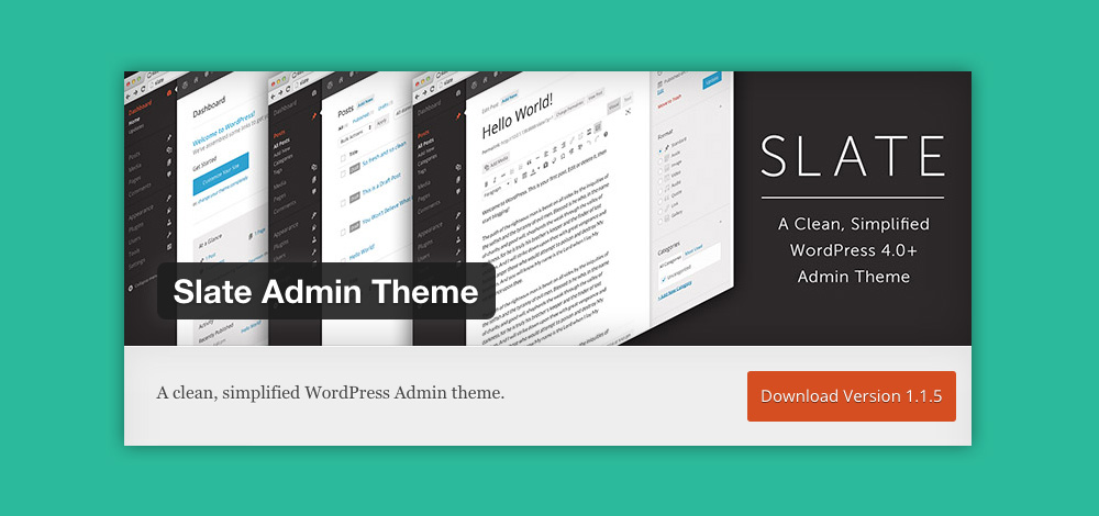 Come cambiare aspetto pannello admin WordPress: Slate admin theme plugin