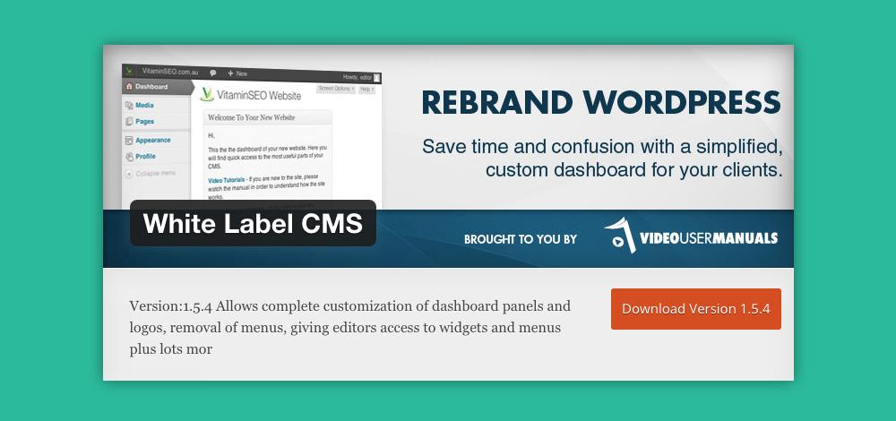 Come cambiare aspetto pannello admin WordPress: White label cms