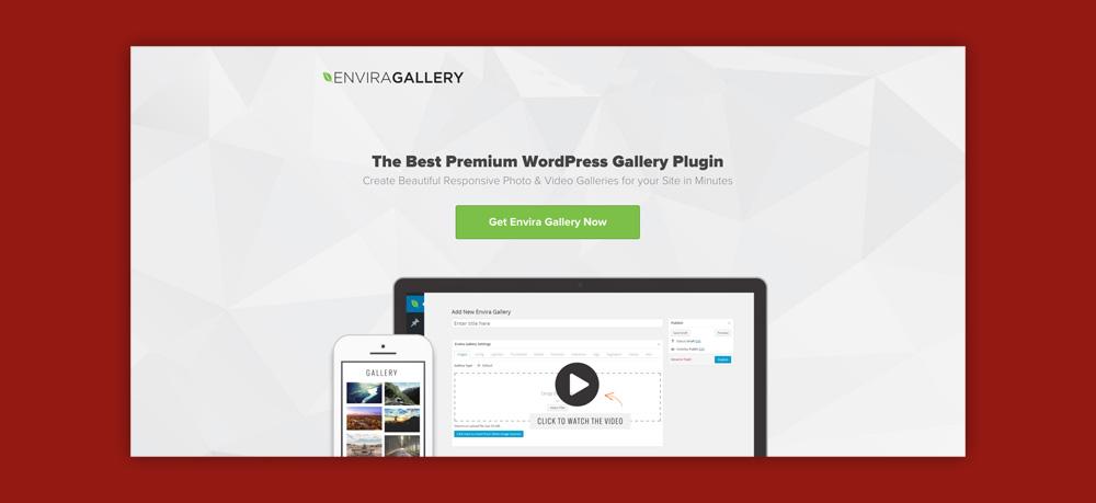 Wordpress video gallery: Envira gallery