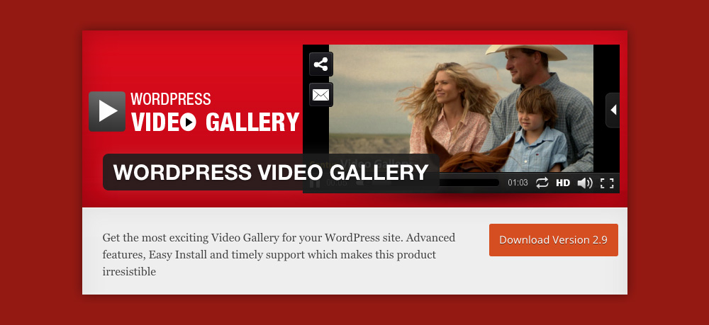 Wordpress video gallery: Contus WordPress Video Gallery