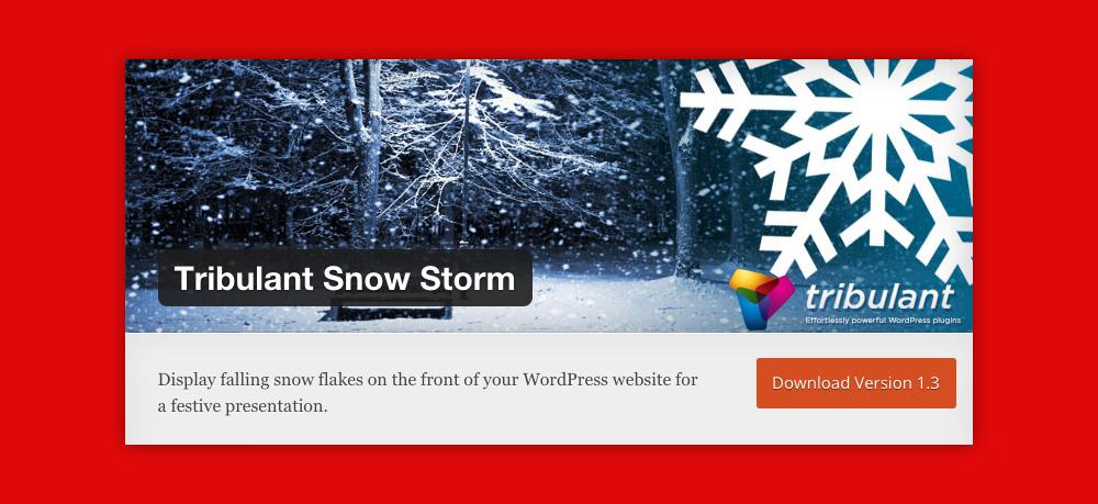 Widget WordPress Natale: Tribulant snow storm