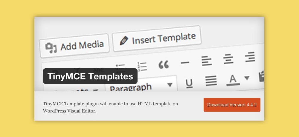 Come inserire un template in wordpress: TinyMCE Templates