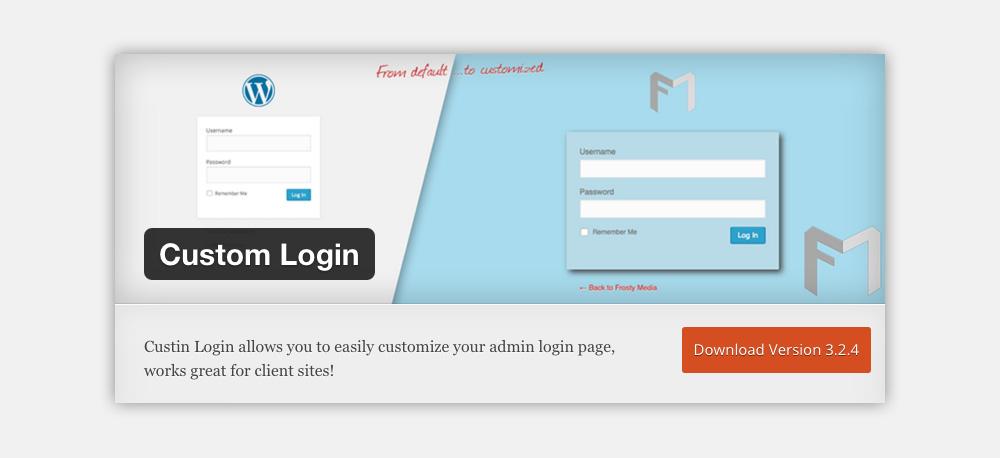 pagina login wordpress Custom Login Plugin