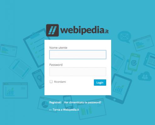 pagina login wordpress