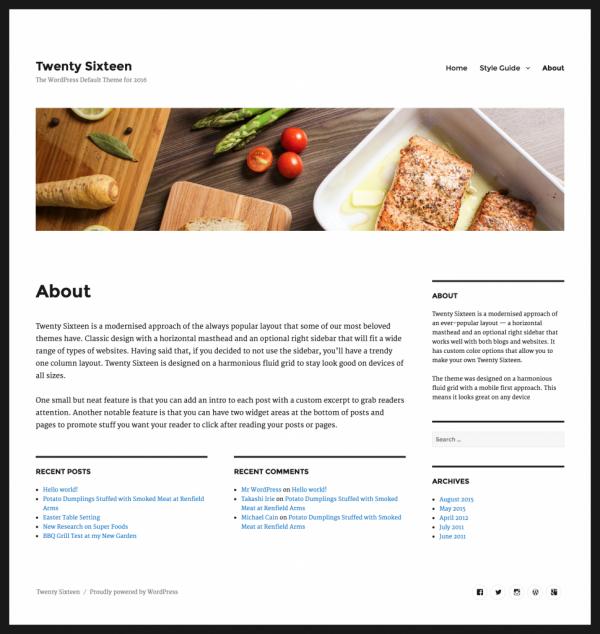 Wordpress 4.4: tema-twenty-sixteen-