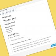 template editor testo wordpress