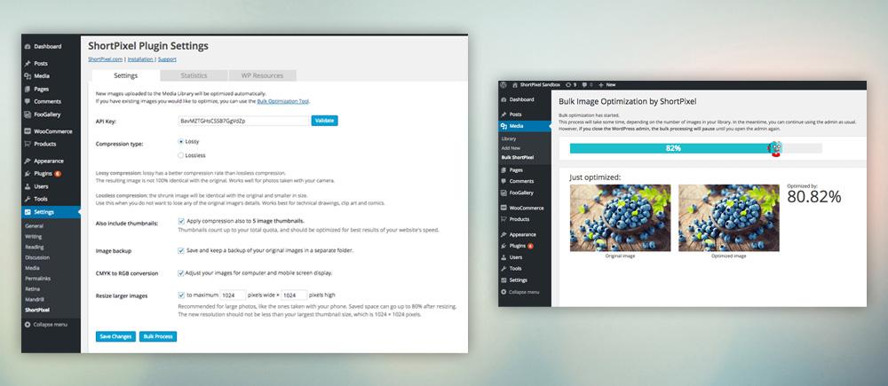 Come ottimizzare immagini wordpress - Shortpixel schermata