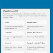 Cosa sono i Widget Wordpress e come si usano