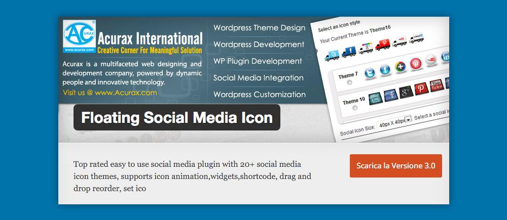 Cosa sono i Widget WordPress e come si usano: Social Media Icon