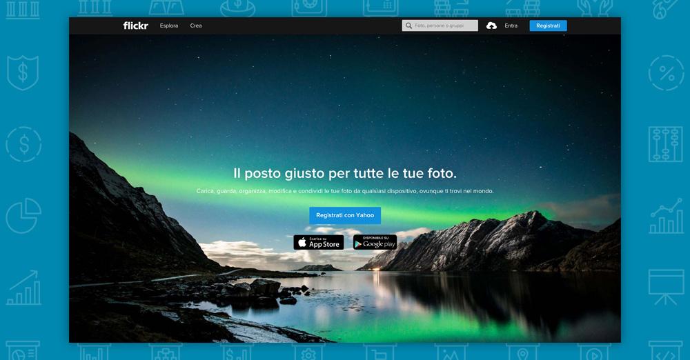 Dove trovare immagini per il tuo sito: flickr