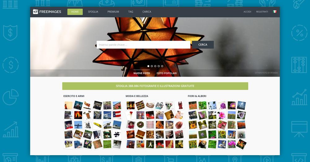 Dove trovare immagini per il tuo sito: freeimages