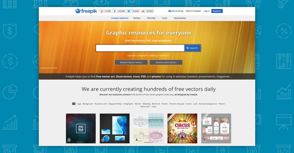 Dove trovare immagini per il tuo sito: freepik
