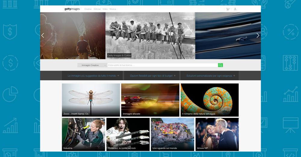 Dove trovare immagini per il tuo sito: gettyimages