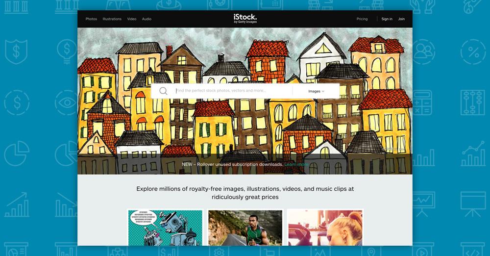 Dove trovare immagini per il tuo sito: istockphoto