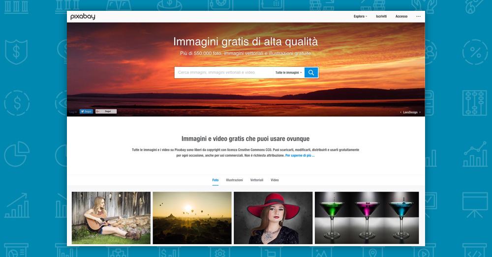 Dove trovare immagini per il tuo sito: pixabay