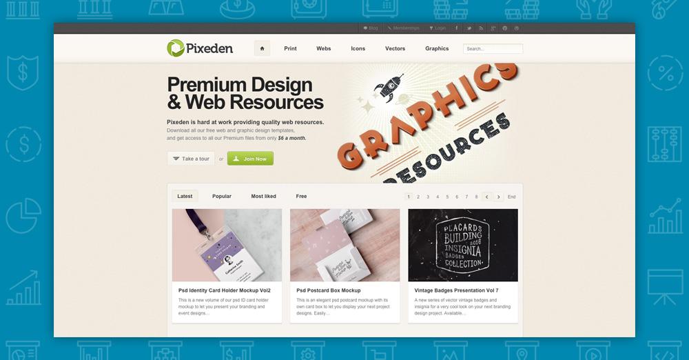 Dove trovare immagini per il tuo sito: pixeden