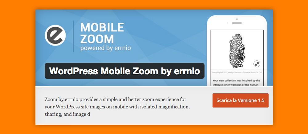 Come Ingrandire Immagini WordPress: Mobile Zoom