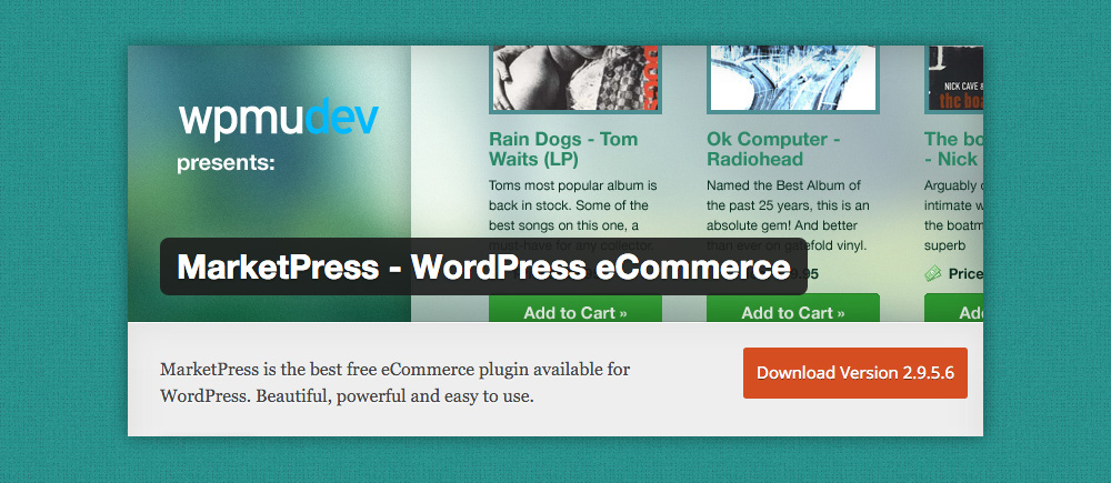 Plugin eCommerce WordPress: Marketpress