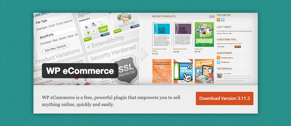 Plugin eCommerce WordPress: WP eCommerce