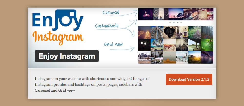 Plugin instagram: Enjoy instagram