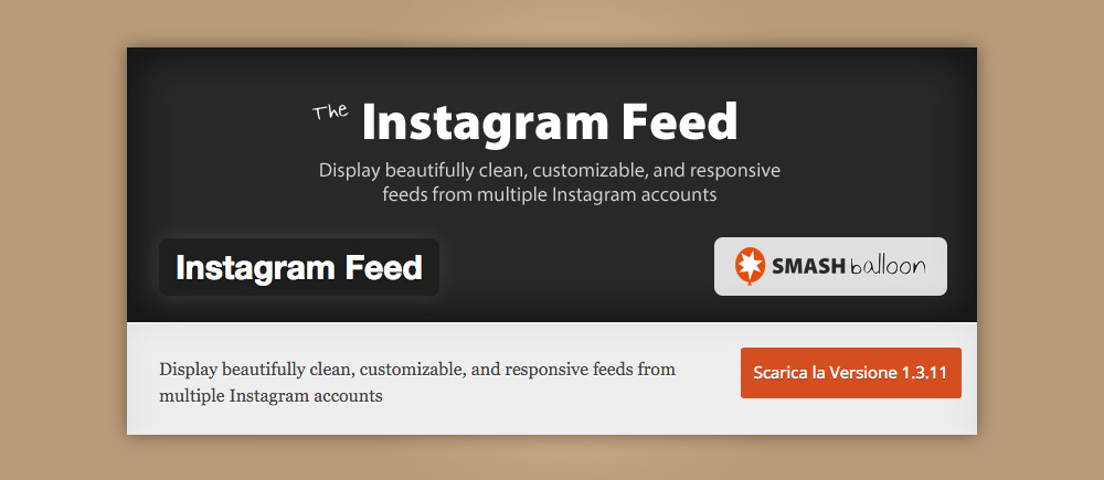 Plugin instagram: instagram feed