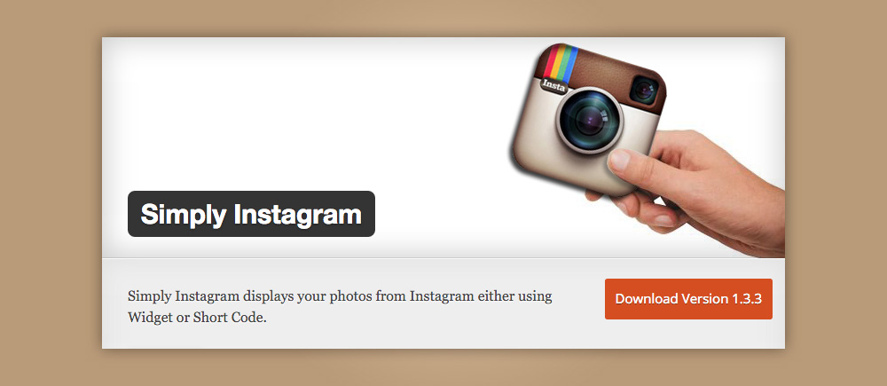 Plugin instagram: Simply instagram